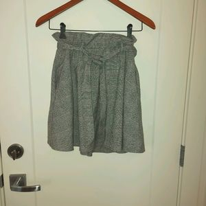 H&M belted plaid skirt